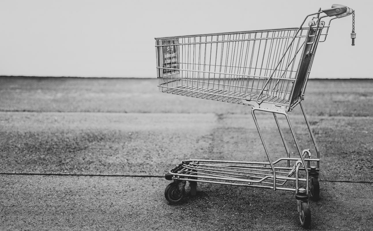 Grey Scale Shopping Cart