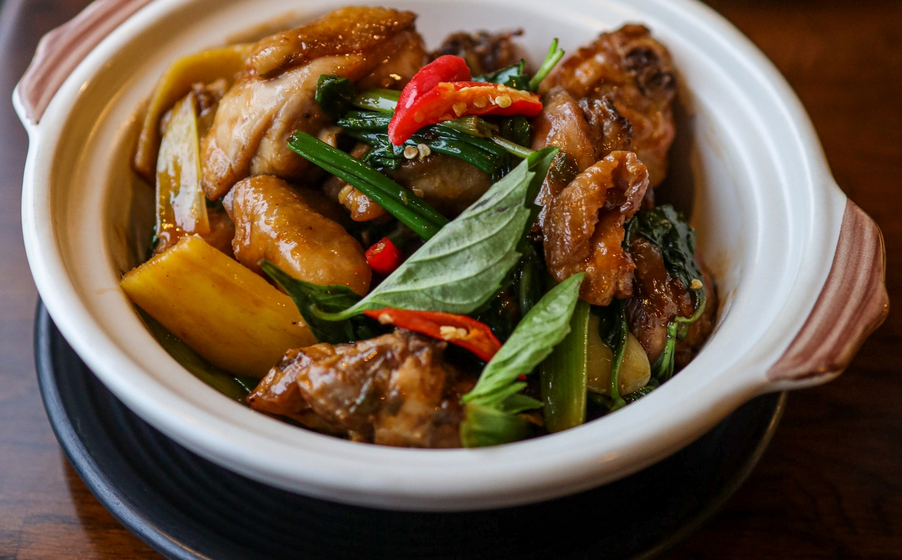 Traditional Taiwanese Three Cup Chicken
